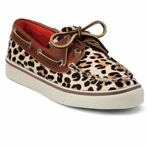 Leopard Sperry top-sider boat shoes